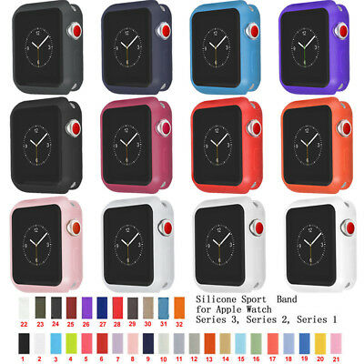 Replacement Sport Silicone Bracelet Strap Band Case Cover for Apple Watch iWatch