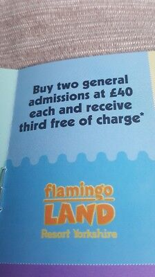 Flamingoland 3 for 2 voucher save £40, plus Lightwater valley+Diggerland Voucher