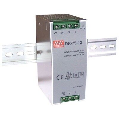 Mean Well DR-75-24 24V / 76.8W Single output Din Rail PSU