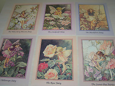 6 Pretty Post Cards Cicely Mary Barker Girl Flower Fairies Pictures Faerie Fairy