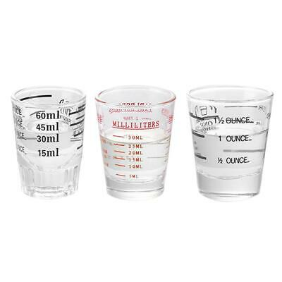 30ml/45ml/60ml Clear Transpare Glass Measuring Cup Bar Tools Jigger Shot Glass