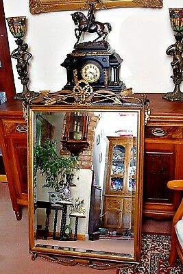 Antique Large CHELINI GIOVANNINI Italian Mirror in Carved Wooden Gilt Frame