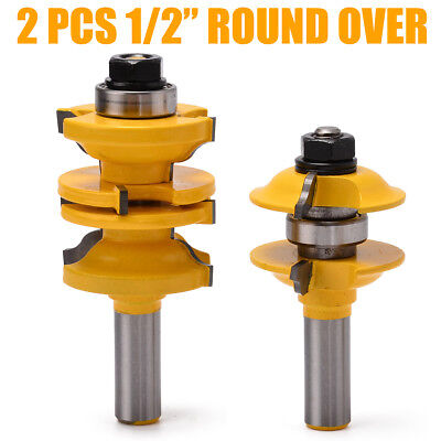 4 Pc 12 Sh Round Over Entry Interior Door Matched Rs Router Bit