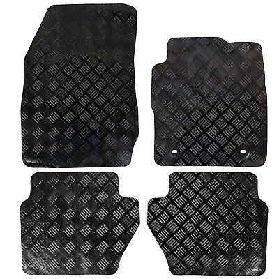 Ford Fiesta Mk7 2009-2011 Tailored Rubber Car Mats Black 4pc Floor Set Oval Clip
