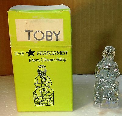 "Mosser Glass Clown "" The Performer"" Crystal Carnival Toby"