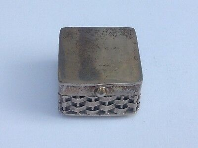 Very Heavy Vintage Mexican Sterling Silver Handmade Pill Box 34.76g