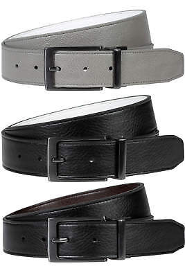 Nike Edge Stitch Leather Belt Reversible Mens New - Choose Color & Size!