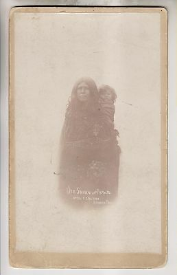 Antique Cabinet Card - Ute Squaw And Papoose - F.s. Balster - Durango Colorado