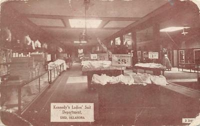 Kennedy's Ladies' Suit Department, Enid, Oklahoma Clothing Store 1908 Postcard