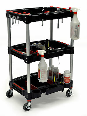 Mechanics Three-Shelf Cart Black