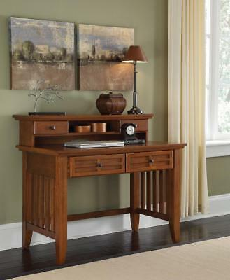 Arts & Crafts Cottage Oak Student Desk With or Without Hutch With Hutch