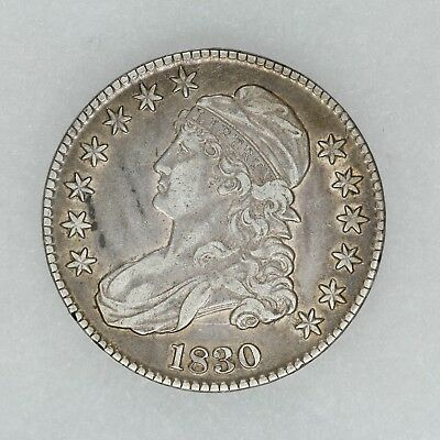1830 Capped Bust Half Dollar 50C Vf / Xf Very Fine / Extra Fine (5704)