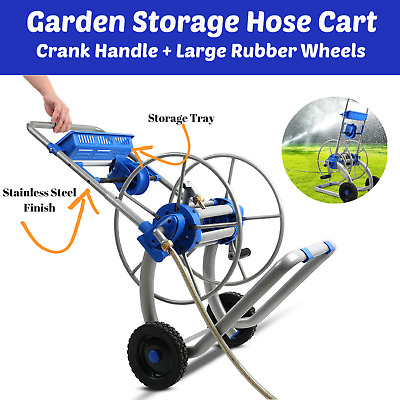 NEW Garden Storage Hose Cart Storage Tray Outdoor Hosing Reel Stand Portable Out