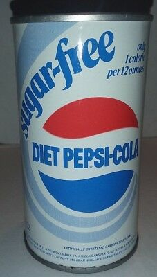 Vintage Empty Sugar-Free Diet Pepsi-Cola Soda 12z Metal Pull Tab Can 100% Sealed