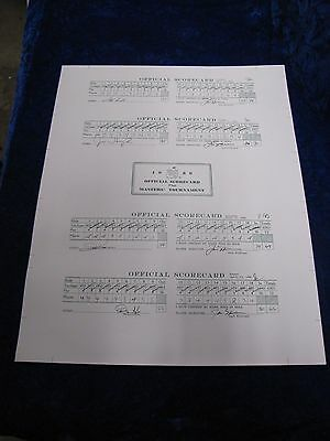 ALL 4 SCORE CARDS OF JACK NICKLAUS 1986 MASTERS - 30th ANNIVERSARY & 18th MAJOR