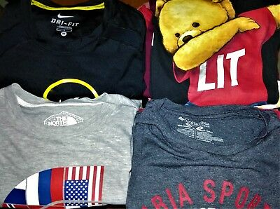 Men's Lot of 40 T-Shirts Size M/L WHOLESALE-RESELLER-RESELL Clothing BIG BRANDS