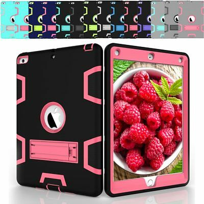 For Apple Ipad 6Th Generation 9.7 2018 Tough Stand Durable Bumper Tpu Case Cover