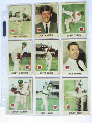 Scanlens Cricketers 1965 Complete Set of 40