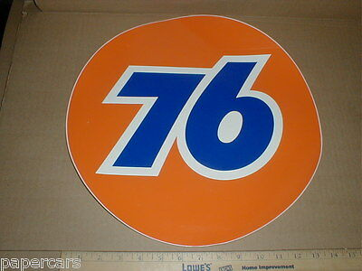 """2 Unocal Union 76 gas station Gasoline Oil vtg 15"""" drag racing decal stickers"""
