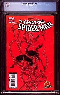 Amazing Spider-Man # 600 DYNAMIC FORCES EDITION CGC 9.2  SEPTEMBER 2009