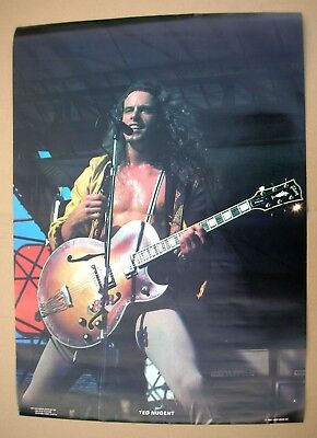 TED NUGENT Scream Dream Era Live Shot Vintage Original Poster 1980 USA Mint-