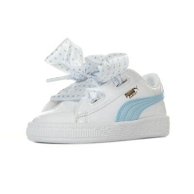 5f62e0249ed35 Chaussures Baskets Puma bébé Basket Heart Stars Inf taille Blanc Blanche