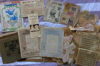 Huge Lot EMBROIDERY TRANSFERS McCalls Paragon Semco Babies Adults
