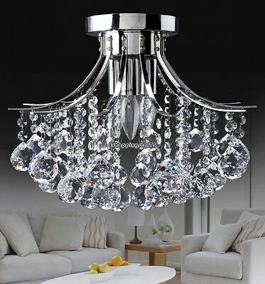 Small Trumpe Crystal Chandelier Ceiling Light Crystal Pendant Lamp Fixtures