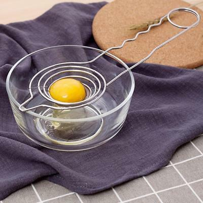 Stainless Steel Egg Yolk Separator Divider Sieve Holder Cooking Cake Tool JJ