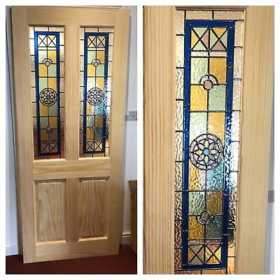 Brand New Stained Glass Internal Door Clear Pine 29424