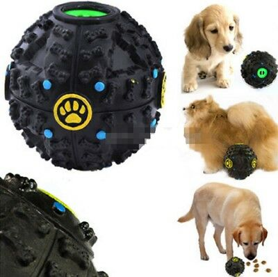 S/M/L Giggle Ball Pet Dog Tough Treat Training Chew Sound Activity Toy Squeaky