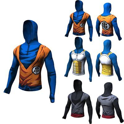 3D Comic Sports Compression T-shirt Dragon Ball Goku Hoddie Gym Training Tops