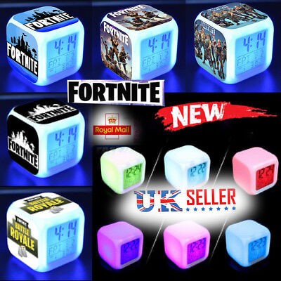 Toy Gifts Fortnite Game Figures Color Changing Night Light Alarm Clock Kids