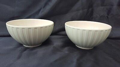 Wedgwood Weekday Weekend Cream/Pale Green    Cereal / Soup Bowls - 2 AVAILABLE
