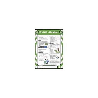 Poster, 1St Aid Workplace, Laminated , 55901