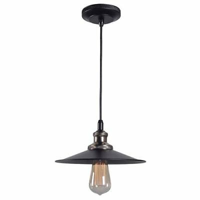 Kenroy Home Ancestry Black and Antique Bronze One-Light Small Pendant - 93370BL
