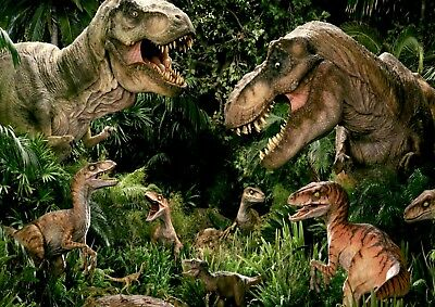 Jurassic Dinosaur Park Theme Photo Poster Print ONLY Wall Art A4 ART WORK REF1