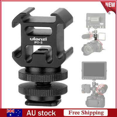 3 Hot Shoe Mount Adapter Microphone Mini LED Video Light for Digital DSLR Camera