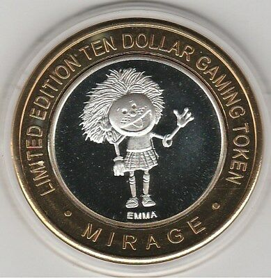 2012 Terry Fator at the Mirage EMMA Clad Strike $10 Gaming Casino Token