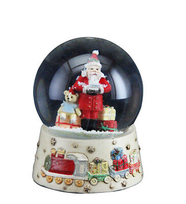 Gisela Graham Christmas Decoration Santa With Toys Snowglobe - Friends Gift Idea