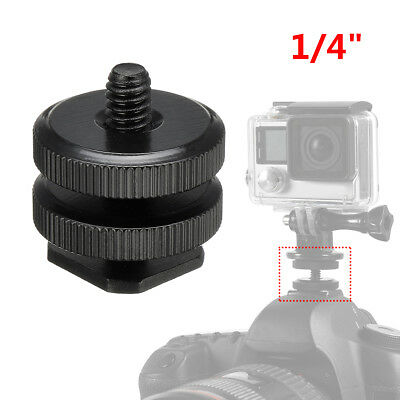 1/4'' Dual Thumb Screw Flash Cold Hot Shoe Camera Adapter Mount für GoPro DSLR
