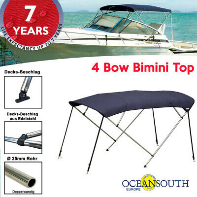 Oceansouth 4 Bow Bimini Top with Integrated Storage Boot