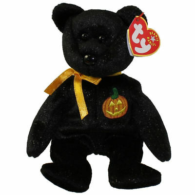 Haunt the Halloween Bear TY Beanie Baby Retired Black Plush Mint Condition