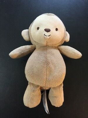 """Baby Infant plush MONKEY brown Child of Mine 8"""" rattles crinkle arms Cute  Clean"""