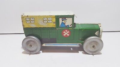 Vintage Tin Plate penny toy Troop Carier 1930's CR Charles Rossignol France C.R.