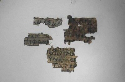 Amazing rare Coptic Egyptian papyrus Lot of 4 in Greek and Latin