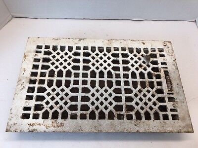 Antique Cast Iron Floor Heating Register Grate Architectural Salvage Vintage