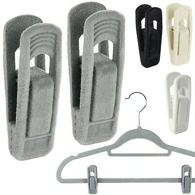 The Hanger Store™ Non-slip Clips for Velvet Flocked Trouser Coat Hangers