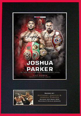 JOSHUA v PARKER - Signed Autographed / Photograph + FREE WORLDWIDE SHIPPING