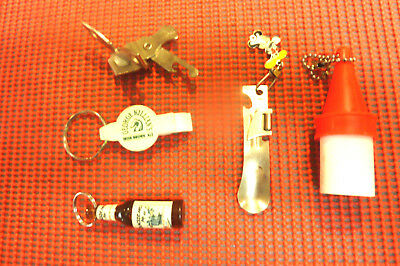 Vintage Ekco Miracle Roll 881 Small Hand Can -PLUS-Bottle Openers - Key chains